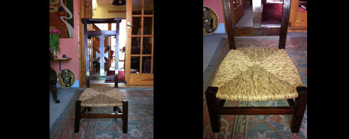 Photo: Prayer Chair after restoration