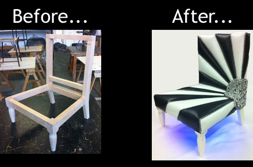 Photo: Disco Chair - before and after