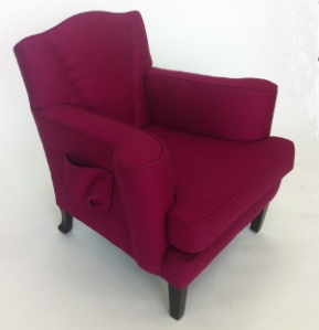 Photo: Magenta Divine chair showing side pockets