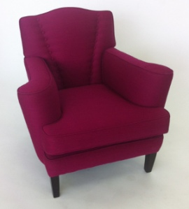 Photo: Magenta Divine chair showing front buttoning