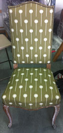Photo: My Boy Lollipop chair after restoration and reupholstery