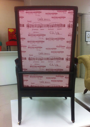 Photo: back view of Chair Music