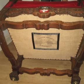 Original maker's mark retained and framed in satin on new bottom cloth